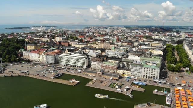 kaartinkaupunki stadsdel i helsingfors - drone helsinki bildbanksvideor och videomaterial från bakom kulisserna