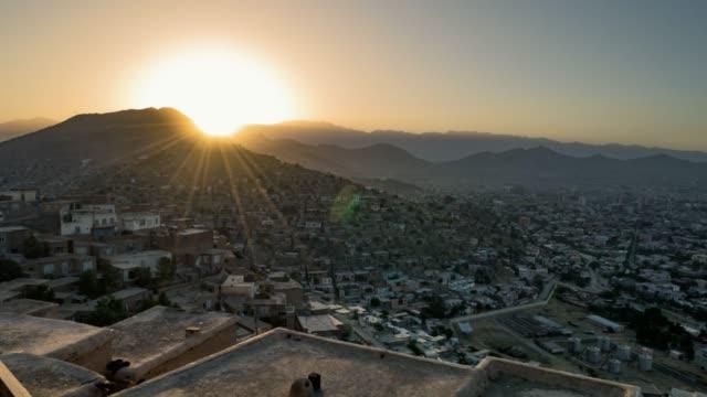 Kabul Time Lapse sunset video