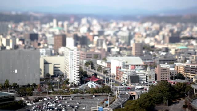 hd :鹿児島市都会の風景(ビデオ) - 斜めから見た図点の映像素材/bロール
