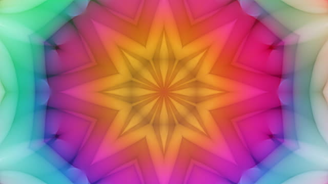 kailey - colorful kaleidoscopic video background loop - узор калейдоскоп стоковые видео и кадры b-roll