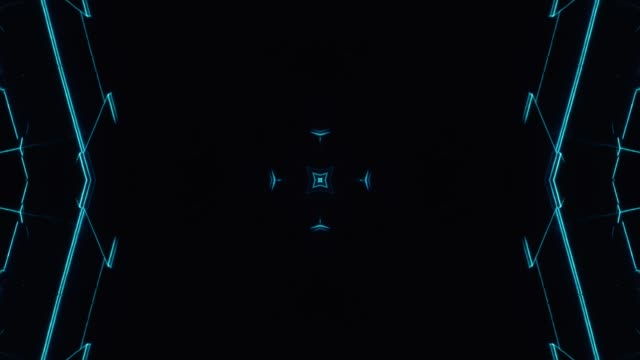 kaleida glitchy neon - 10 - мандала стоковые видео и кадры b-roll