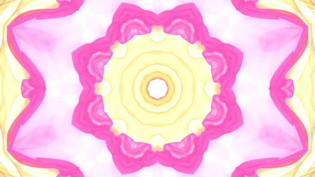 vídeos de stock e filmes b-roll de kaleida shapes background. - mosaicos flores