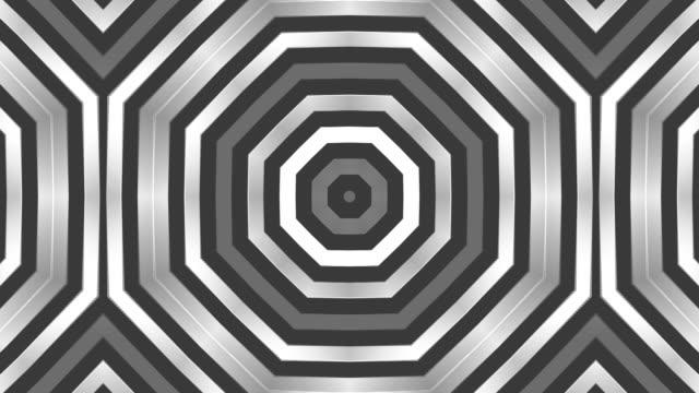 Kaleidoscope 2D b/w HD 1080 video