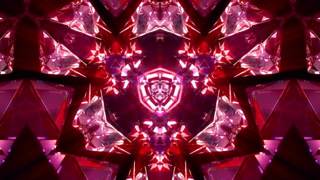 カレイド スコープ 4 k ループ - 万華鏡模様点の映像素材/bロール