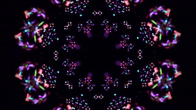 stockvideo's en b-roll-footage met caleidoscoop abstracte achtergrond. zachte kleuren op zwarte achtergrond - mandala