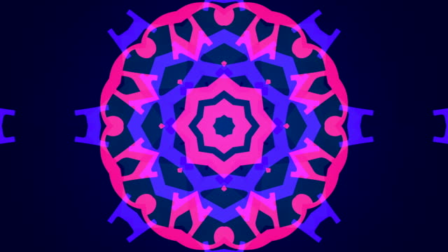 vídeos de stock e filmes b-roll de kaleidoscope, abstract pattern - mosaicos flores