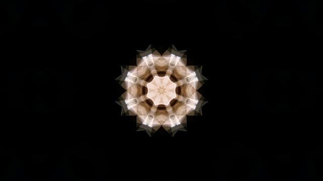 kaleidoscope background animation loop - узор калейдоскоп стоковые видео и кадры b-roll