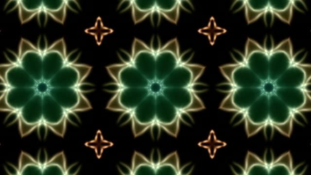 vídeos de stock e filmes b-roll de kaleidoscope background loop - mosaicos flores
