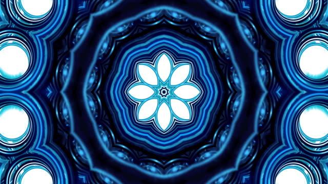 Kaleidoscope - blue round video