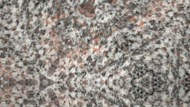 Kaleidoscope close up marble background video