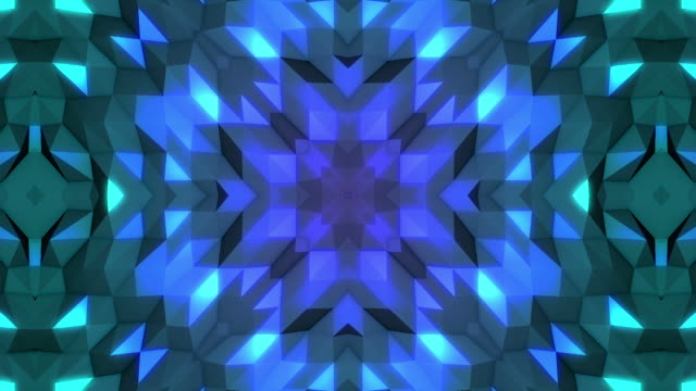 kaleydoskop mandala uzayda - mozaik stok videoları ve detay görüntü çekimi