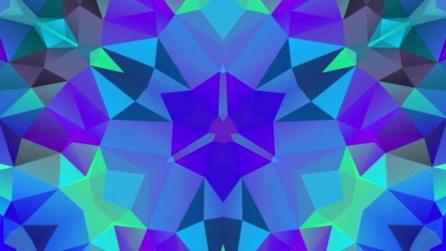 vídeos y material grabado en eventos de stock de caleidoscopio mosaico baja poli fondo hd animación - caleidoscopio patrón