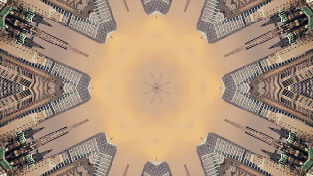Kaleidoscope of a view of New York USA video