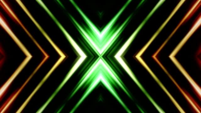kaleidoscope of abstract shapes loop - 可循環移動圖像 個影片檔及 b 捲影像