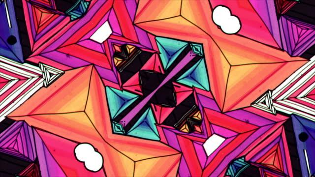 万華鏡シーケンス パターン - 万華鏡模様点の映像素材/bロール
