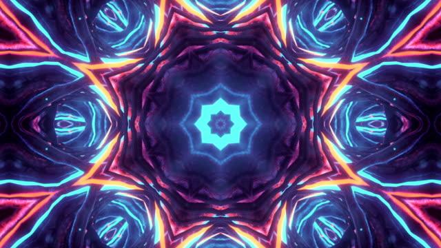 kalejdoskop sekvens mönster - mandala bildbanksvideor och videomaterial från bakom kulisserna