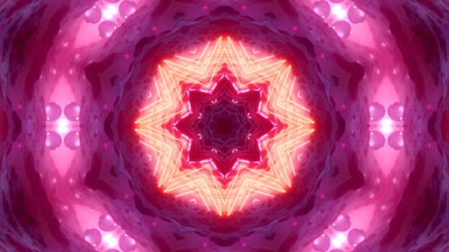 vidéos et rushes de modèle de séquence kaléidoscope - psychédélique