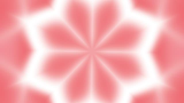 万華鏡サンゴの花柄の背景 - 万華鏡模様点の映像素材/bロール