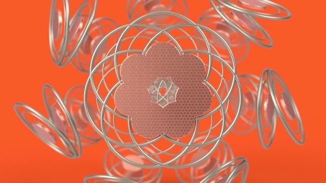 vídeos de stock e filmes b-roll de kaleidoscopic islamic geometric pattern, arabic mandala, mosaic looping muslim background. abstract indian ornament. - mosaicos flores