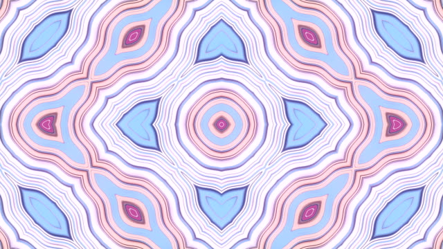 vídeos de stock e filmes b-roll de kaleidoscopic pattern of pink colored geometric shapes. abstract geometrical vj motion graphics background. computer generated loop animation. 3d rendering. 4k uhd - mosaicos flores