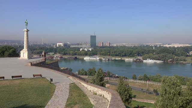 Kalemegdan fortress and Victor monument in Serbia