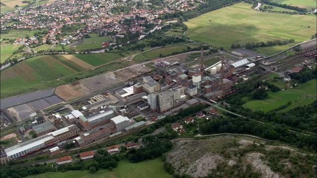 Kali Und Salz Salt Works  - Aerial View - Hesse,  helicopter filming,  aerial video,  cineflex,  establishing shot,  Germany video