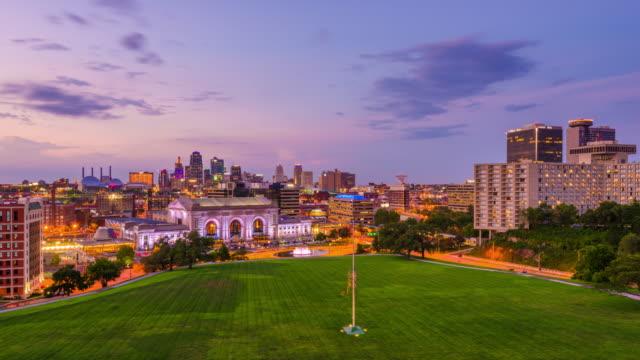 Kansas City, Missouri, USA Skyline video