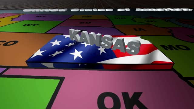 Kansas pull out from USA states abbreviations map video