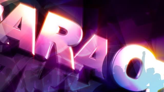 Karaoke 3D Text video