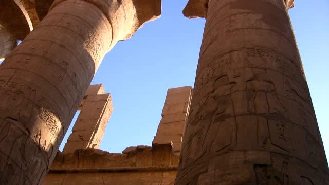 karnak tempel in luxor - egyptisk kultur bildbanksvideor och videomaterial från bakom kulisserna