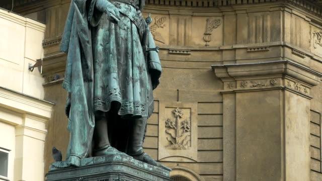 Karol IV Bronze Statue in Prague video