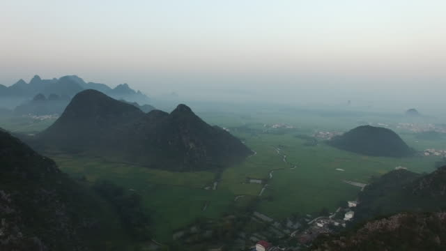 Karst area of the sunset. video