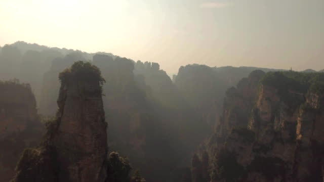 Karst Pillars at Wulingyuan National Park in Zhangjiajie video
