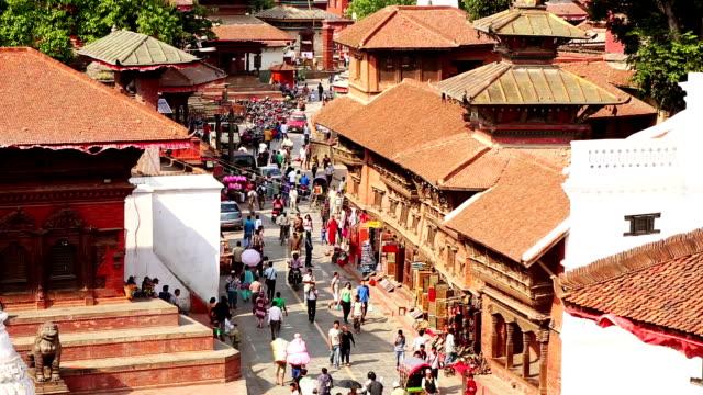 ダルバール広場は、カトマンズの街並み、ネパール - ネパール点の映像素材/bロール
