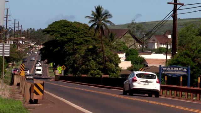 Kauai Island To shoot the Waimea town jp201806 stock videos & royalty-free footage