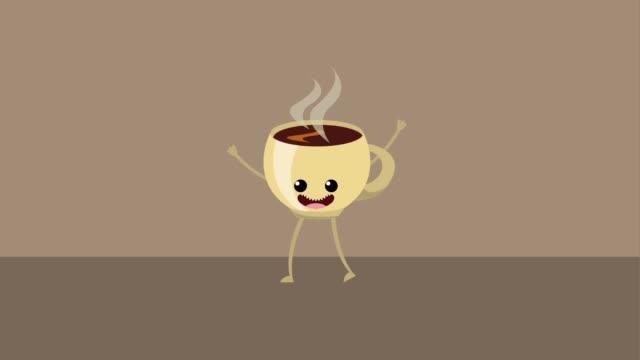 kawaii food cartoon - kawaii video stock e b–roll