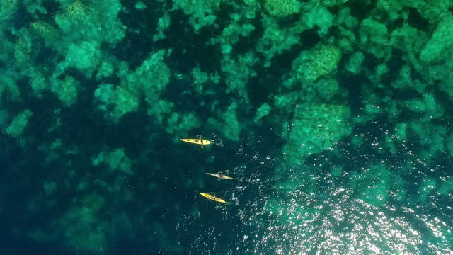 Kayaking in the sea video