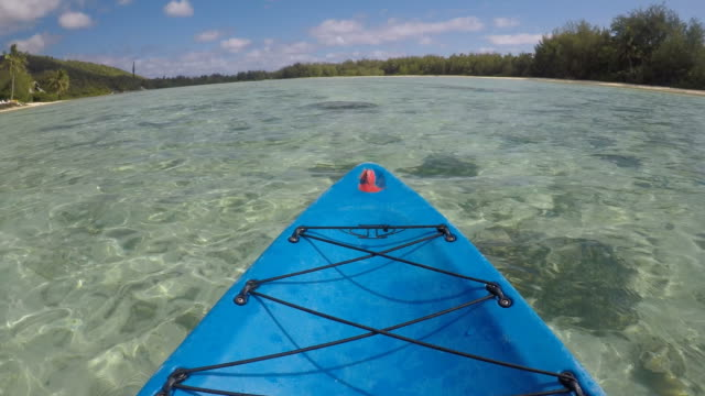 Kayaking over Muri Lagoon in Rarotonga Cook Islands video