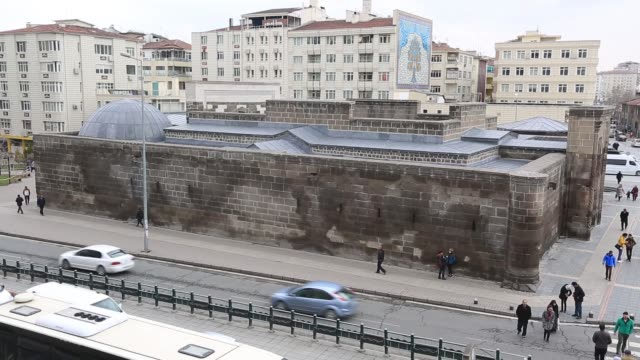 Kayseri general city images in Kayseri city of Turkey. (Cumhuriyet square, Kayseri castle, turkish flag, mosque etc.) Kayseri/Turkey 03/15/2017