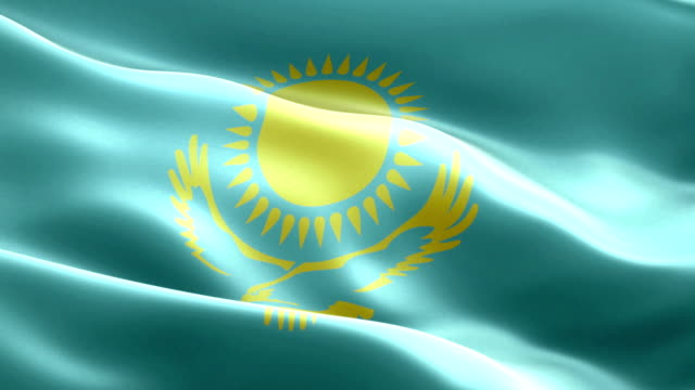 Kazakhstan flag Kazakhstan flag kazakhstan stock videos & royalty-free footage