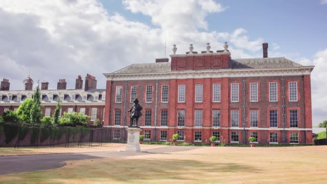 Kensington Palace time lapse Time lapse of Kensington Palace, a famous London landmark in Kensington area of London's west end royalty stock videos & royalty-free footage