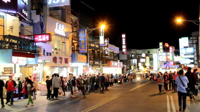 Kenting Night Market. HD video