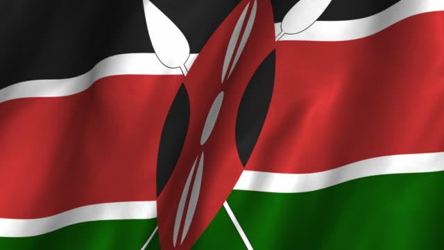 Kenya Flag Waving
