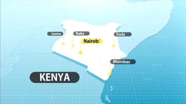 vídeos de stock e filmes b-roll de kenyan map - quénia