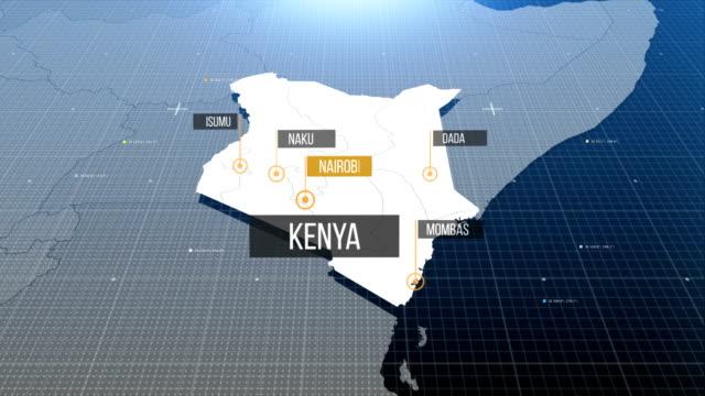 vídeos de stock e filmes b-roll de kenyan map with label then with out label - quénia