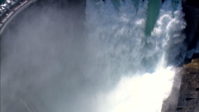 Kerr Dam  - Aerial View - Montana, Lake County, United States video
