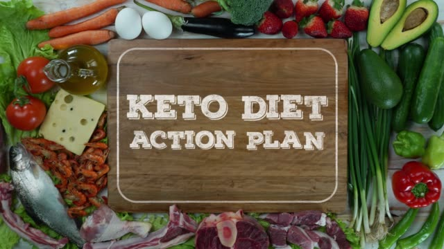 Keto diet action plan stop motion video