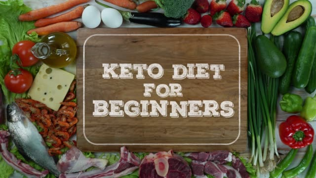 Keto diet for beginners stop motion video