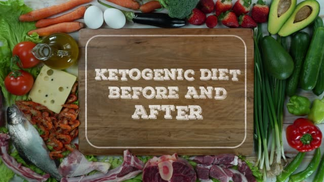 Ketogenic diet before and after stop motion video