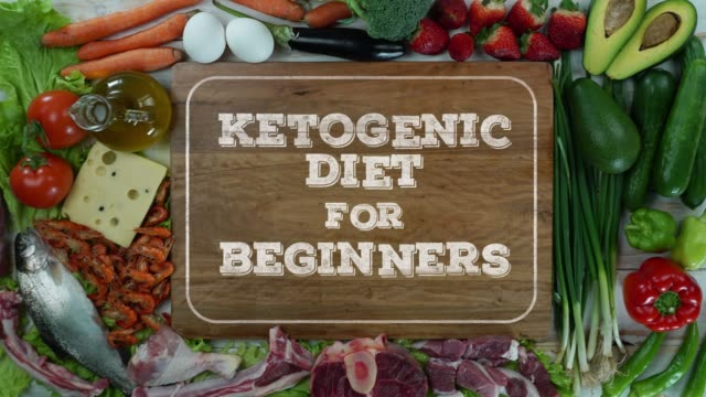 Ketogenic diet for beginners stop motion video